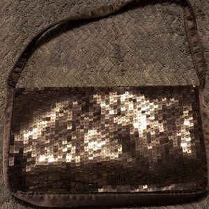 Purse Black sequin small evening purse.